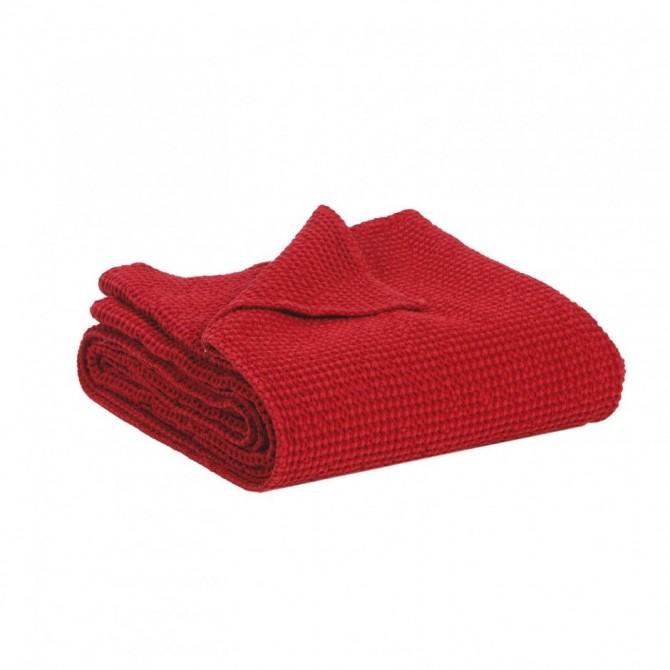 Piqu de coton maia rubis - Dessus de lit pique de coton ...