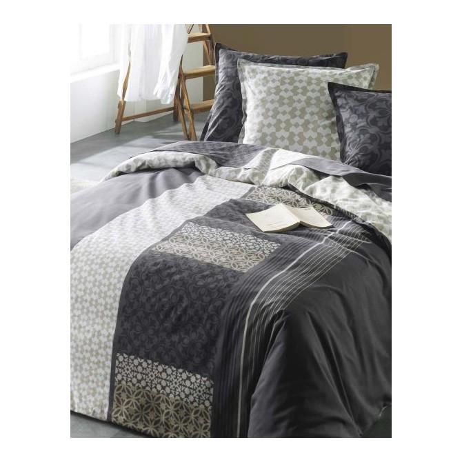 parrure drap parure drap plat draphousse 140x190 2 taies. Black Bedroom Furniture Sets. Home Design Ideas
