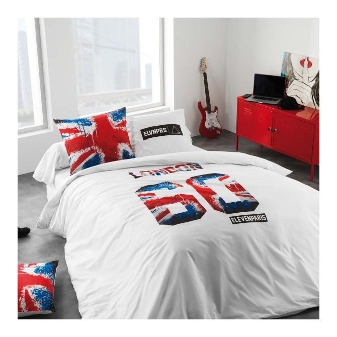 pin london une housse de couette pour lit 1 personne et sa. Black Bedroom Furniture Sets. Home Design Ideas