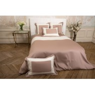 Housse de couette BAYADERE Taupe/Naturel