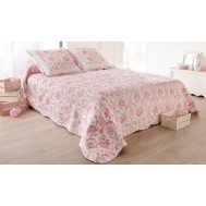 Boutis + taie(s) TOILE DE JOUY Rose