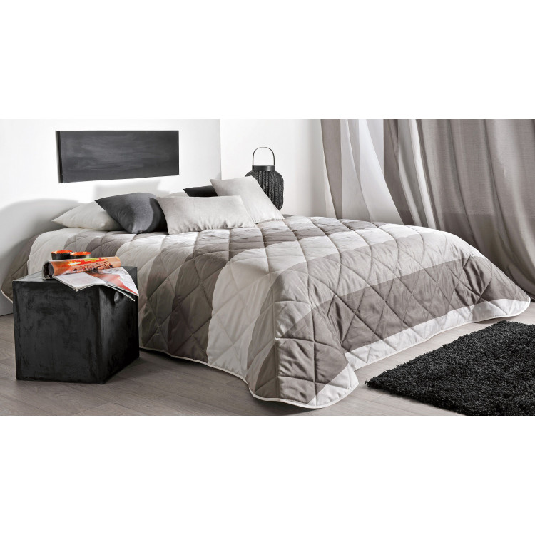 boutis moderne simple boutis matelass bicolore scenario travail artisanal finition raffine pour. Black Bedroom Furniture Sets. Home Design Ideas