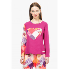 Haut de pyjama ROMANTIC PATCH