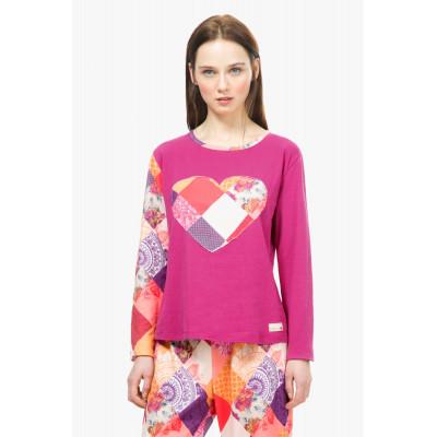 Haut de pyjama ROMANTIC PATCH