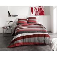 Parure de lit TRIBECA Rouge