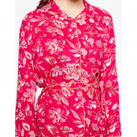 Chemise de pyjama INDIENNE Indienne magenta