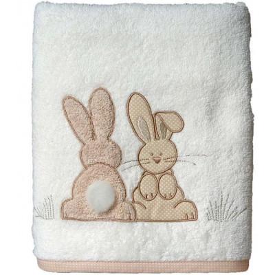 serviette de toilette pompon le lapin. Black Bedroom Furniture Sets. Home Design Ideas