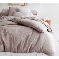 Drap housse LIN Taupe
