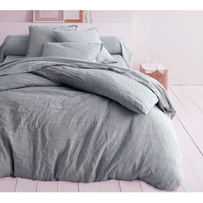 drap housse lin corail. Black Bedroom Furniture Sets. Home Design Ideas