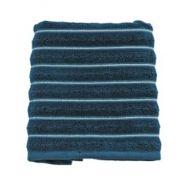 Serviette de toilette jacquard LAGON Bleu jeans