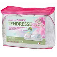 Couette TENDRESSE Biais Rose 400 gr/m²