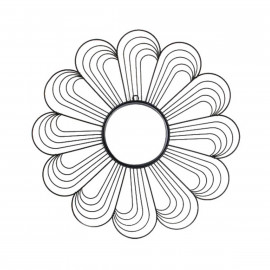 Miroir Fleur Noir MALIKA
